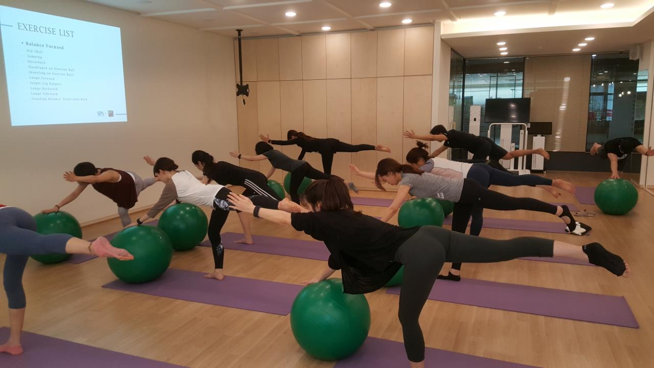 Pilates with Exercise Ball Neuromuscular balance training